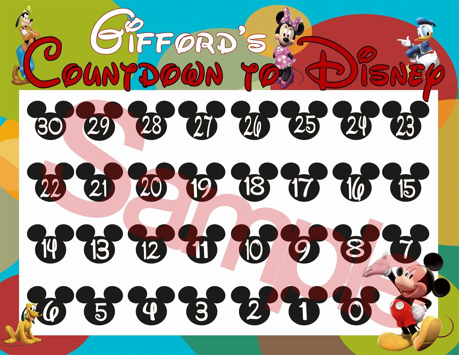 Printable Countdown Calendar Template Awesome Cute too Bad Hudson S Countdown Will Only Have One