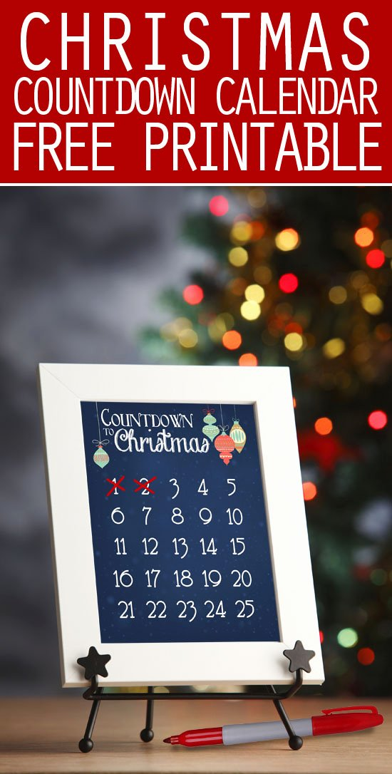 Printable Countdown Calendar Template Beautiful Christmas Countdown Calendar Free Printable How to Nest