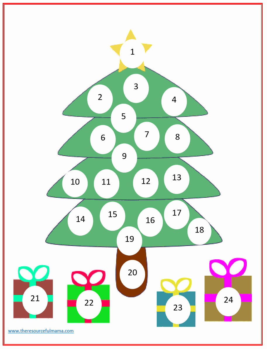 Printable Countdown Calendar Template Elegant Christmas Countdown Advent Calendar the Resourceful Mama