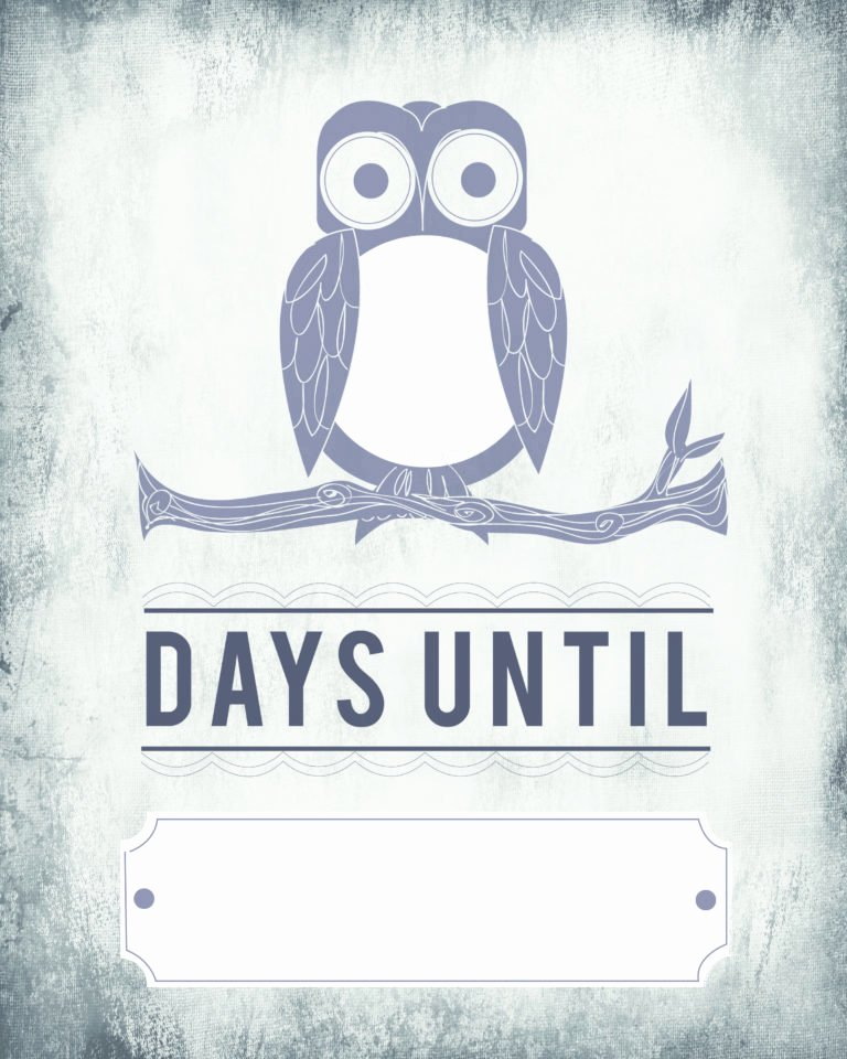 Printable Countdown Calendar Template Inspirational Owl Count Down Calendar – Blank Template [printable] – Tip