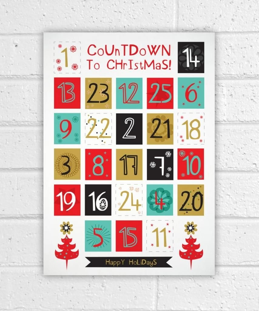 Printable Countdown Calendar Template Lovely 12 Advent Calendars to Help You Count the Days to Christmas
