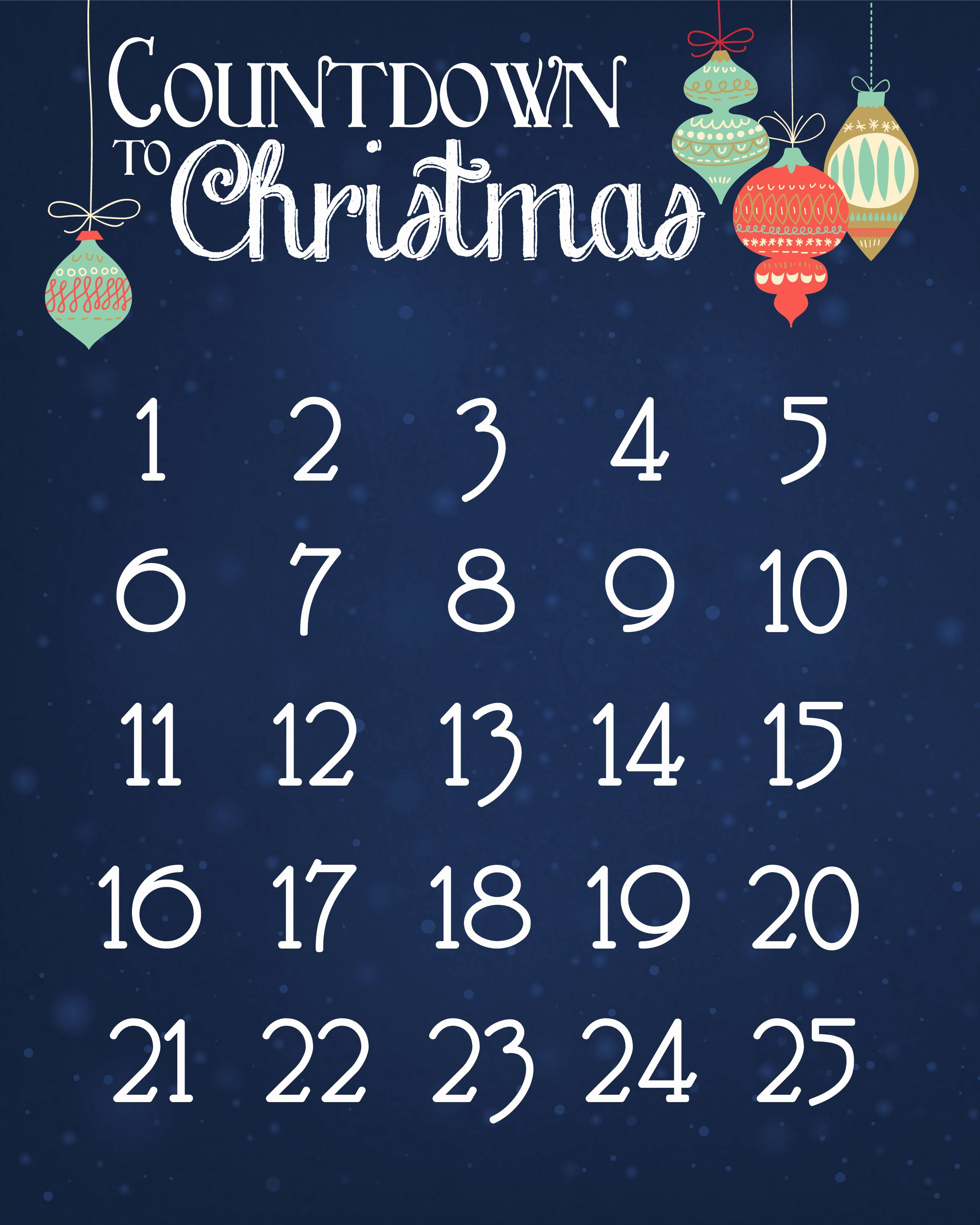 Printable Countdown Calendar Template New Christmas Countdown Calendar Free Printable How to Nest