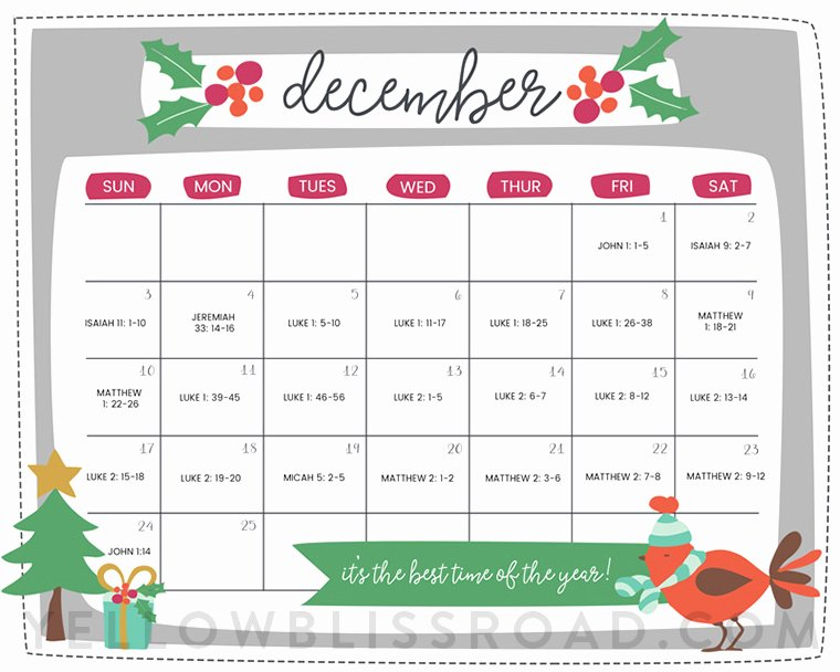 Printable Countdown Calendar Template New Free Printable Christmas Countdown Calendar for December