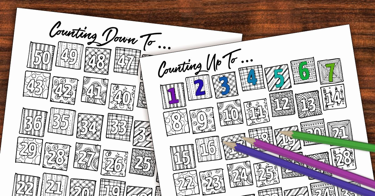 Printable Countdown Calendar Template New Free Printable Color In Countdown Fb Moms and Crafters