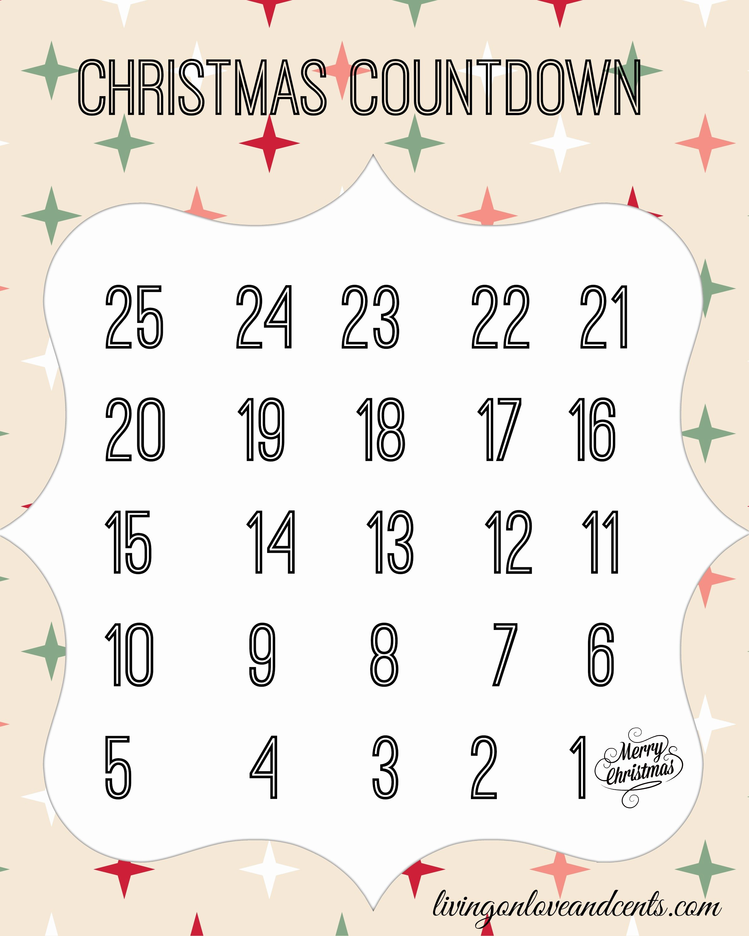 Printable Countdown Calendar Template Unique Diy Countdown to Christmas Calendar with Trivia Free