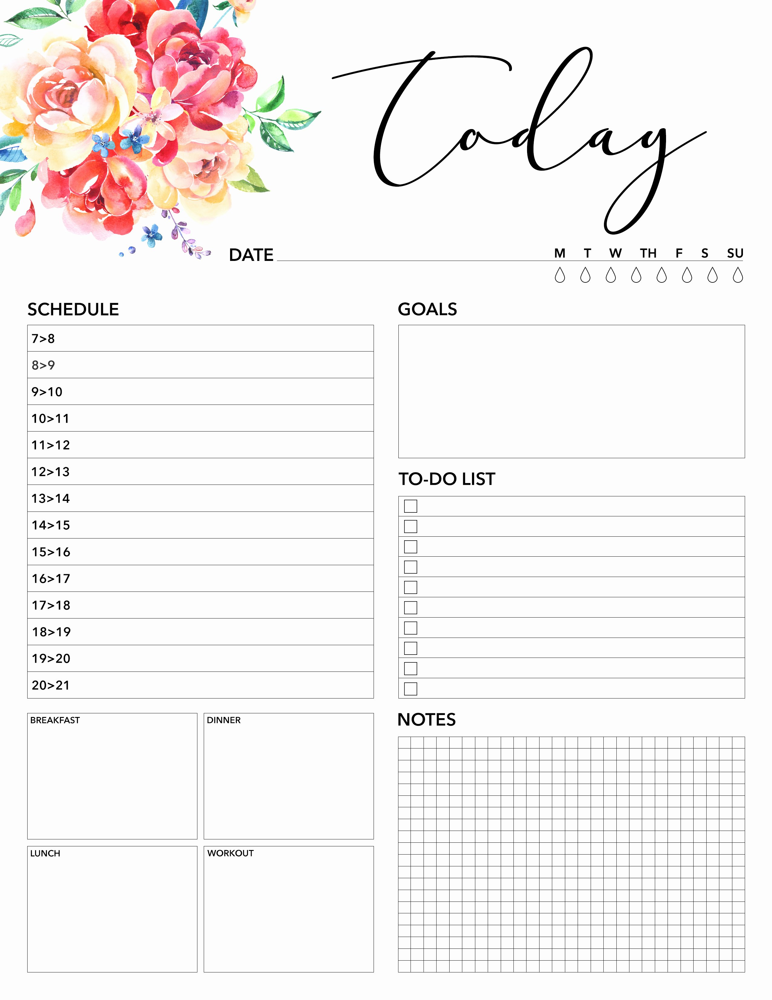 Printable Daily Planner Template Best Of Free Printable 2018 Planner 50 Plus Printable Pages the