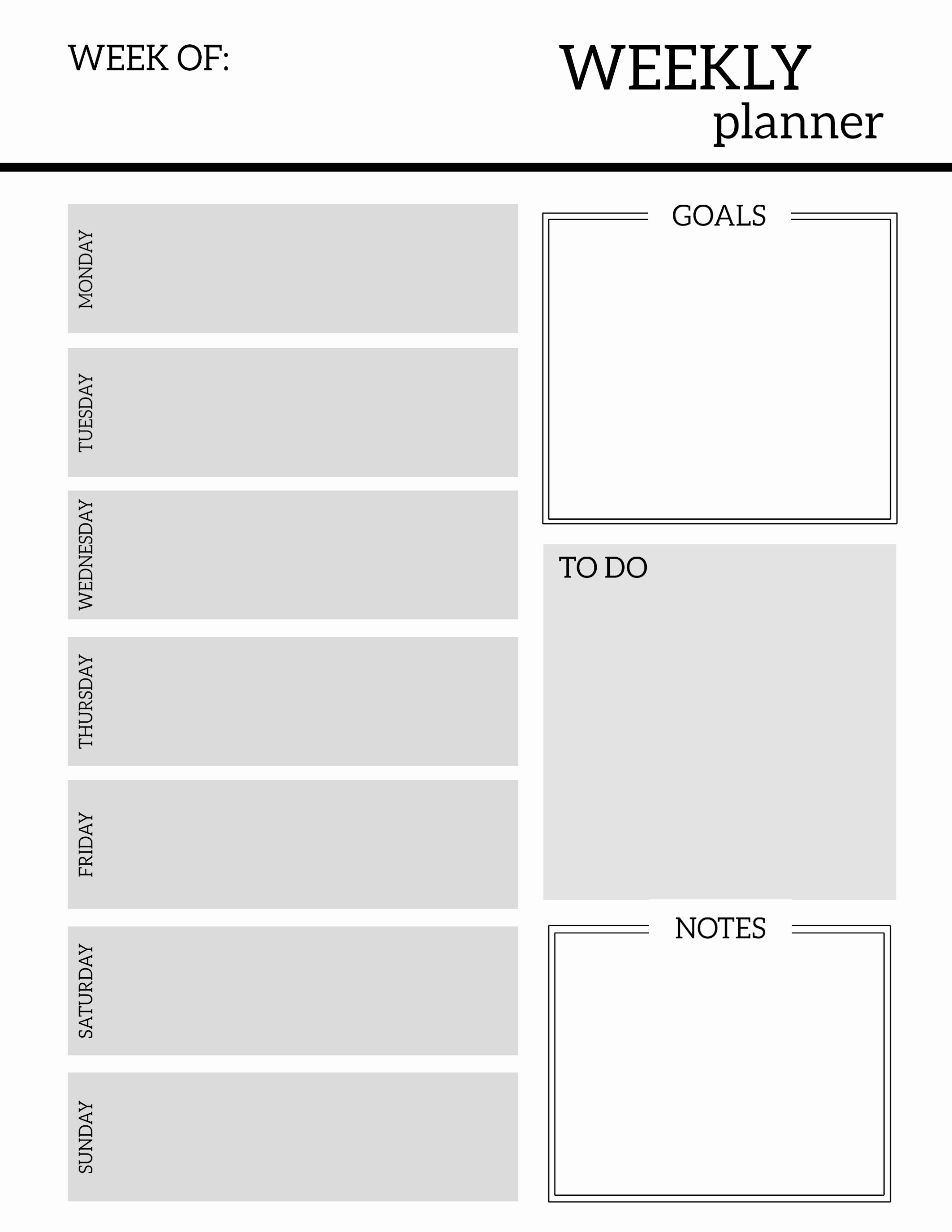 Printable Daily Planner Template Inspirational Free Printable Weekly Planner Pages Paper Trail Design
