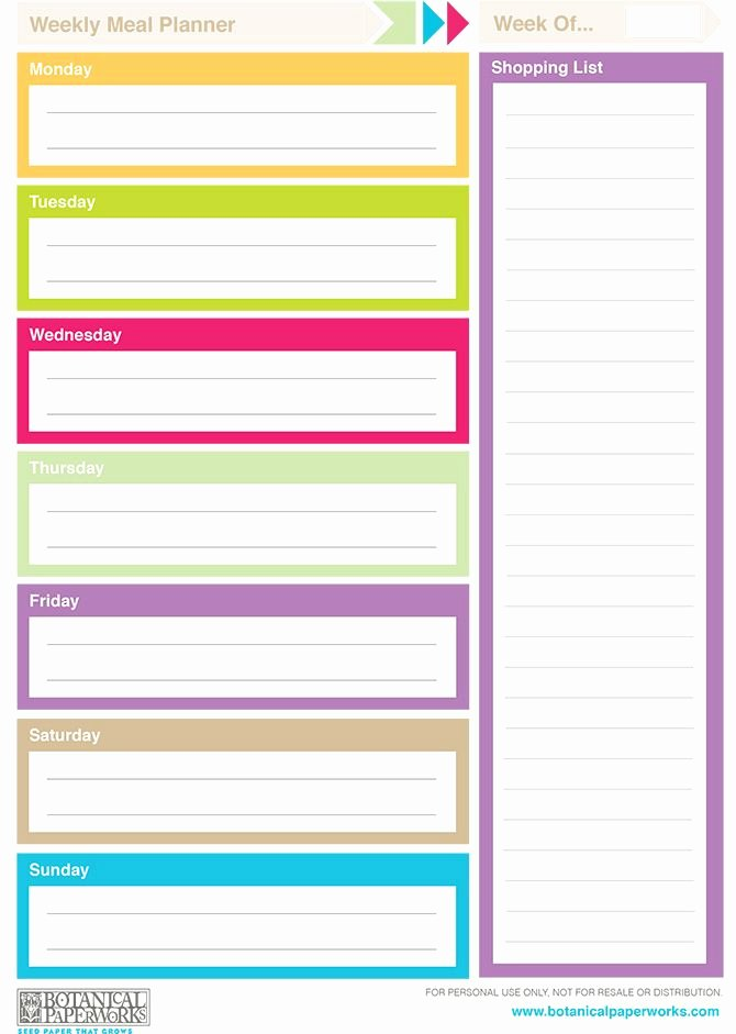 Printable Daily Planner Template New Free Printable 2014 Weekly Planners