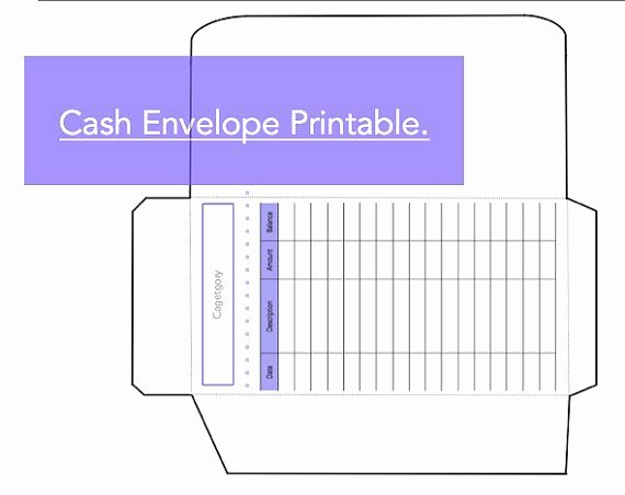 Printable Envelope Template Pdf Beautiful Printable Cash Envelope System Tracker Log Instant