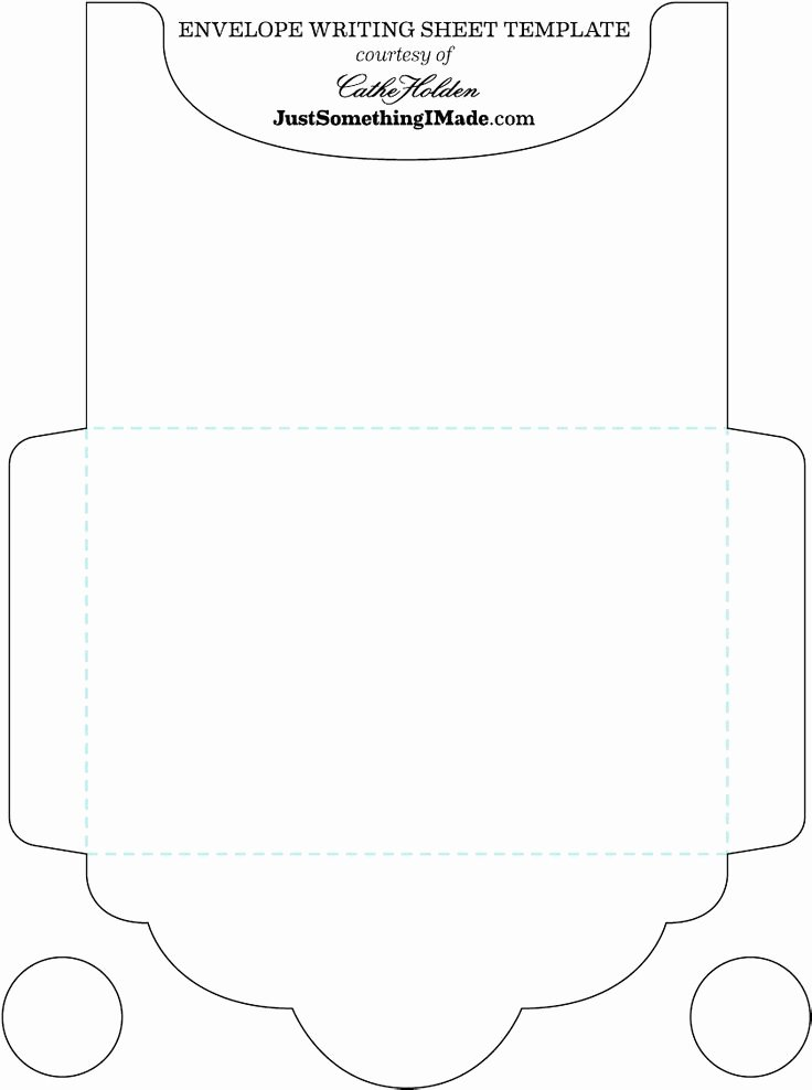 Printable Envelope Template Pdf Elegant Blank Free Envelope Letter Trace & Cut then Fold Write