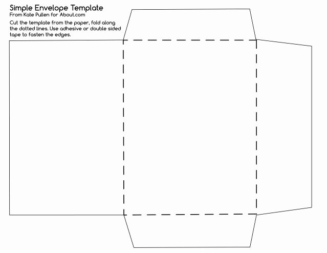 Printable Envelope Template Pdf Luxury Envelope Template