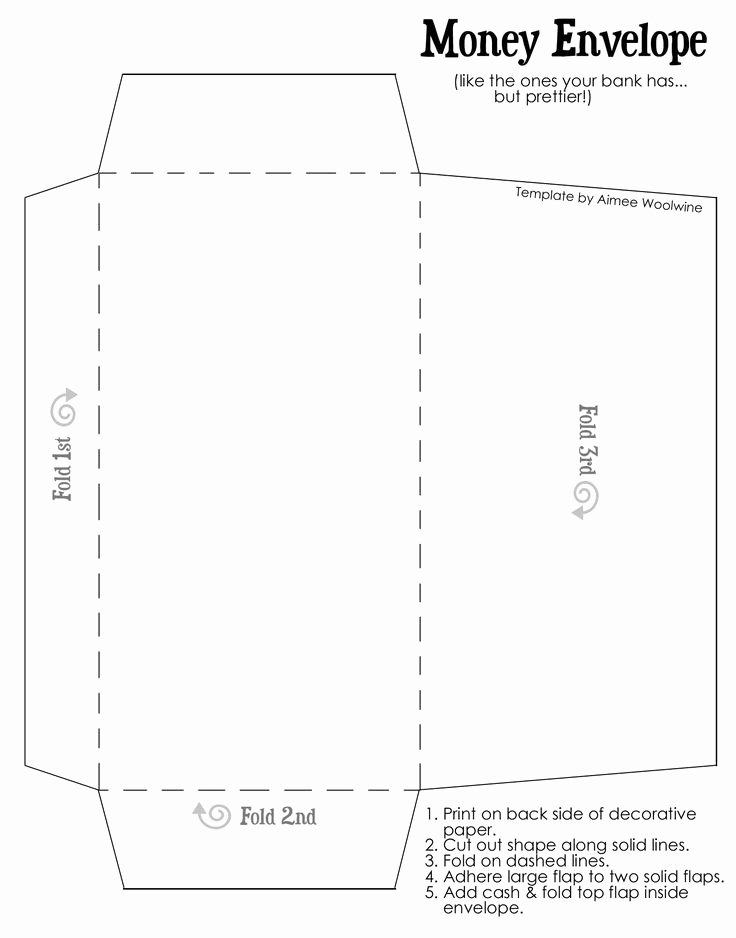 Printable Envelope Template Pdf New Coinenvelopetemplatewtext for My Envelope Money Plan