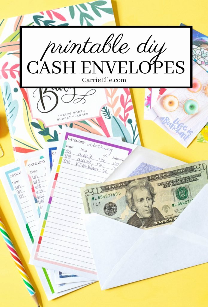 Printable Envelope Template Pdf Unique Printable Diy Cash Envelope System Carrie Elle