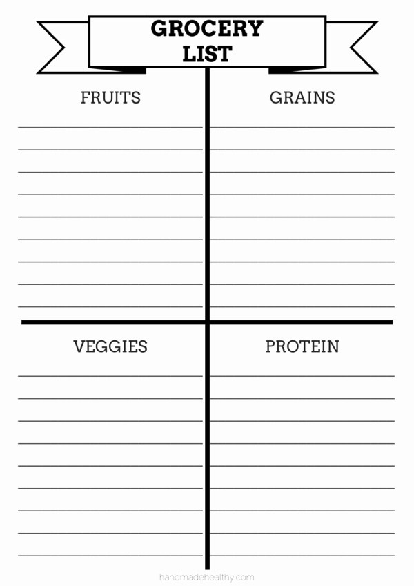 Printable Grocery List Templates Awesome 28 Free Printable Grocery List Templates