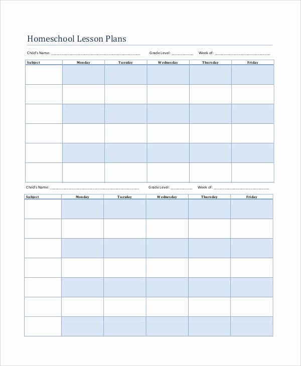 Printable Lesson Plan Template Awesome Printable Lesson Plan 7 Free Word Pdf Documents