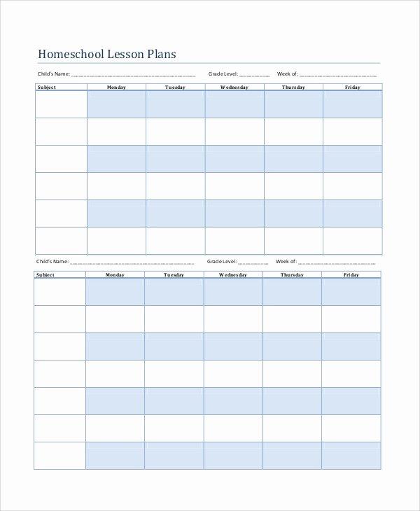 Printable Lesson Plan Template Awesome Printable Lesson Plan 7 Free Word Pdf Documents