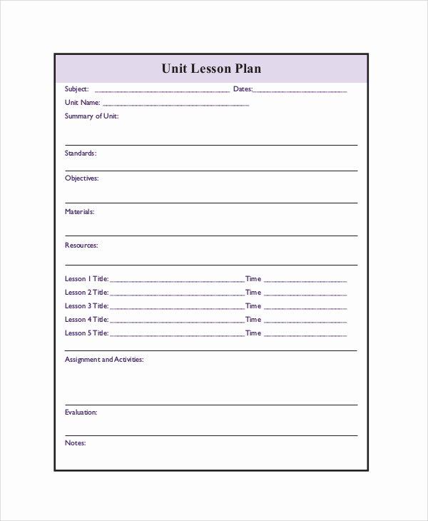 Printable Lesson Plan Template Awesome Printable Lesson Plan Templates