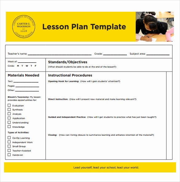 Printable Lesson Plan Template Inspirational 14 Sample Printable Lesson Plans Pdf Word Apple Pages