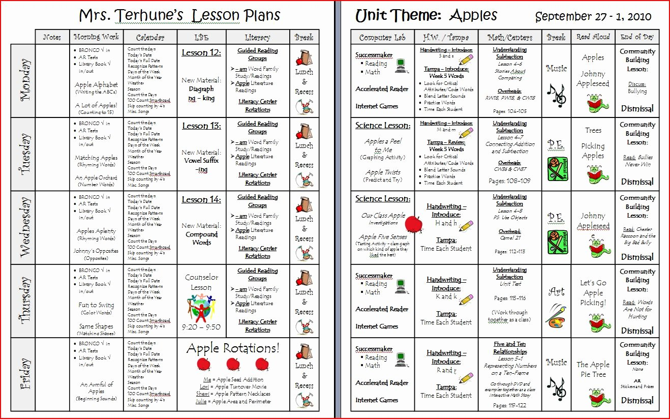 Printable Lesson Plan Template Inspirational Teaching with Terhune Easy to Use Printable Lesson Plan