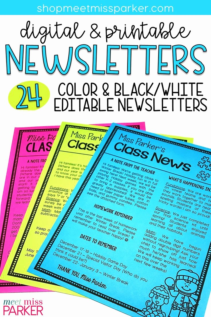 Printable Newsletter Templates Free Awesome Best 25 Preschool Newsletter Templates Ideas Only On