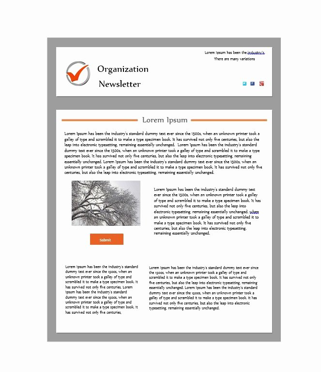 Printable Newsletter Templates Free Best Of 50 Free Newsletter Templates for Work School and