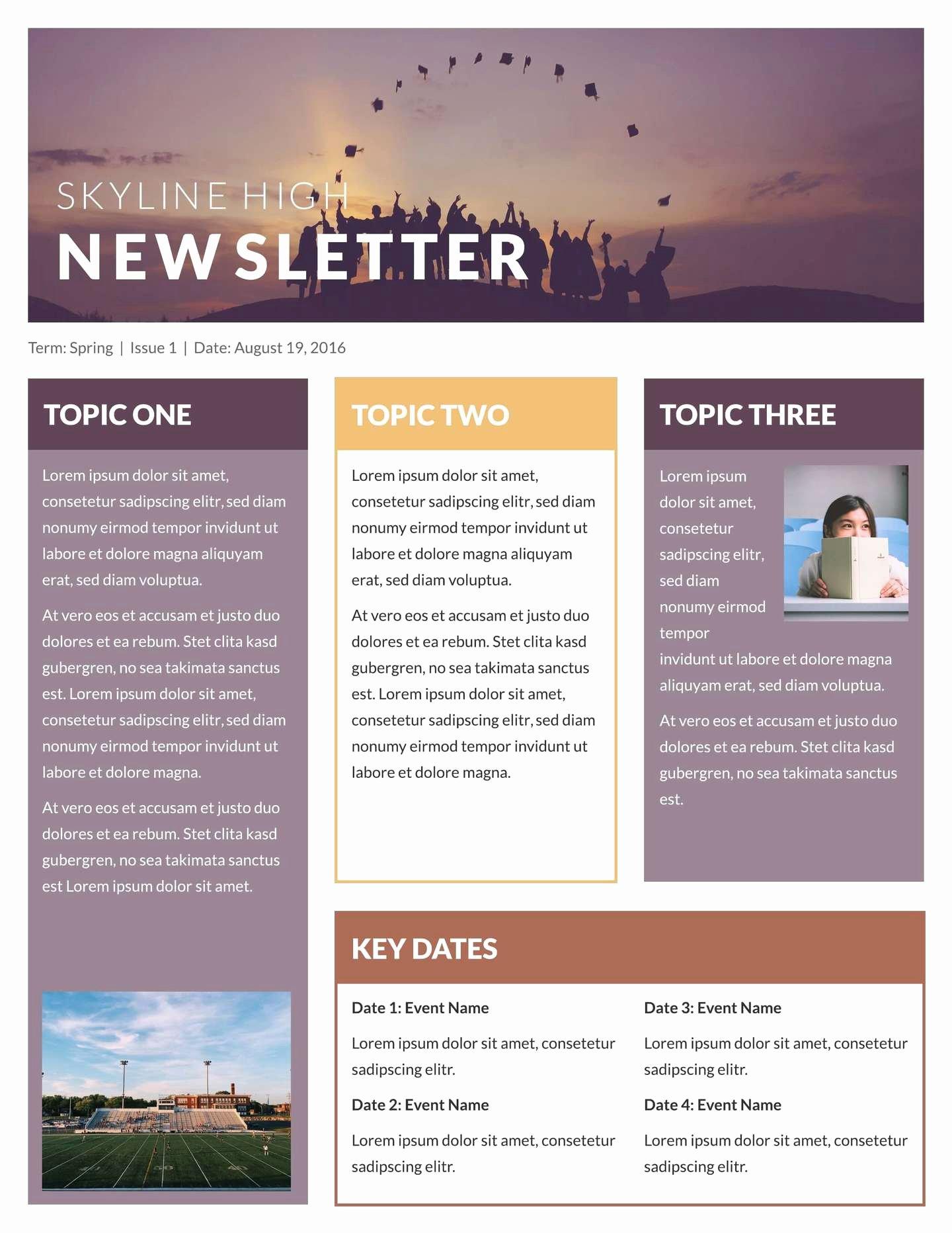 Printable Newsletter Templates Free Fresh Free Printable Newsletter Templates & Examples