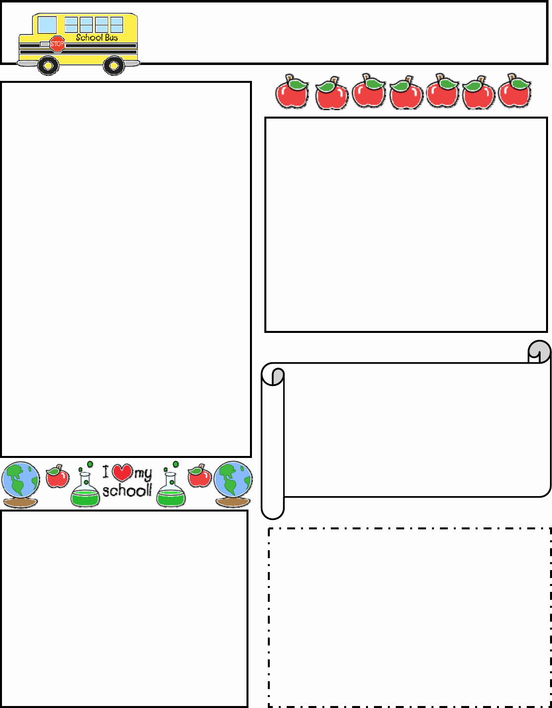 Printable Newsletter Templates Free Inspirational Classroom Newsletter Template