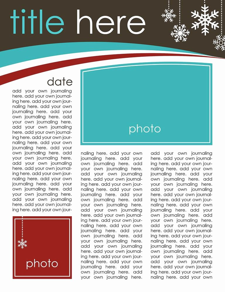 Printable Newsletter Templates Free Lovely 49 Free Christmas Letter Templates that You Ll Love