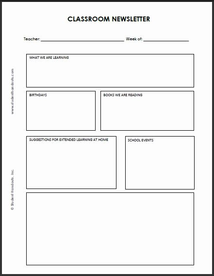 Printable Newsletter Templates Free Luxury 92 Best Images About Classroom Newsletter On Pinterest