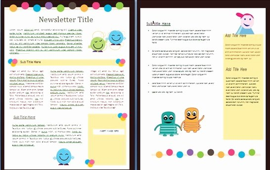 Printable Newsletter Templates Free Luxury Free Newsletter Templates