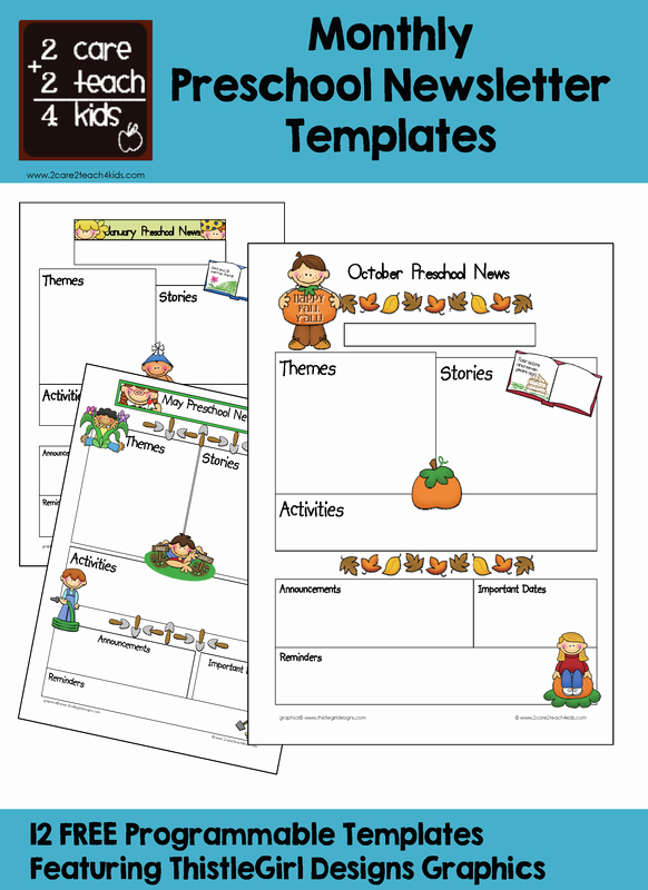 Printable Newsletter Templates Free New Free Printable Preschool Newsletter Templates