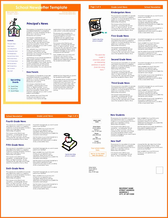 Printable Newsletter Templates Free Unique 10 Classroom Newsletter Templates Free and Printable
