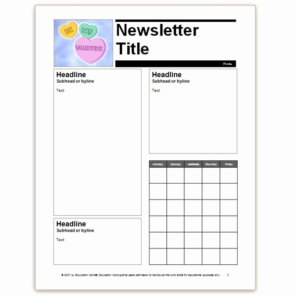 Printable Newsletter Templates Free Unique where to Find Free Church Newsletters Templates for