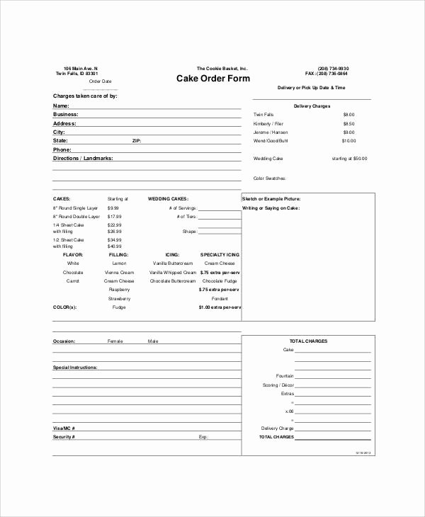 Printable order form Template Awesome Sample Free Printable order form 9 Examples In Word Pdf