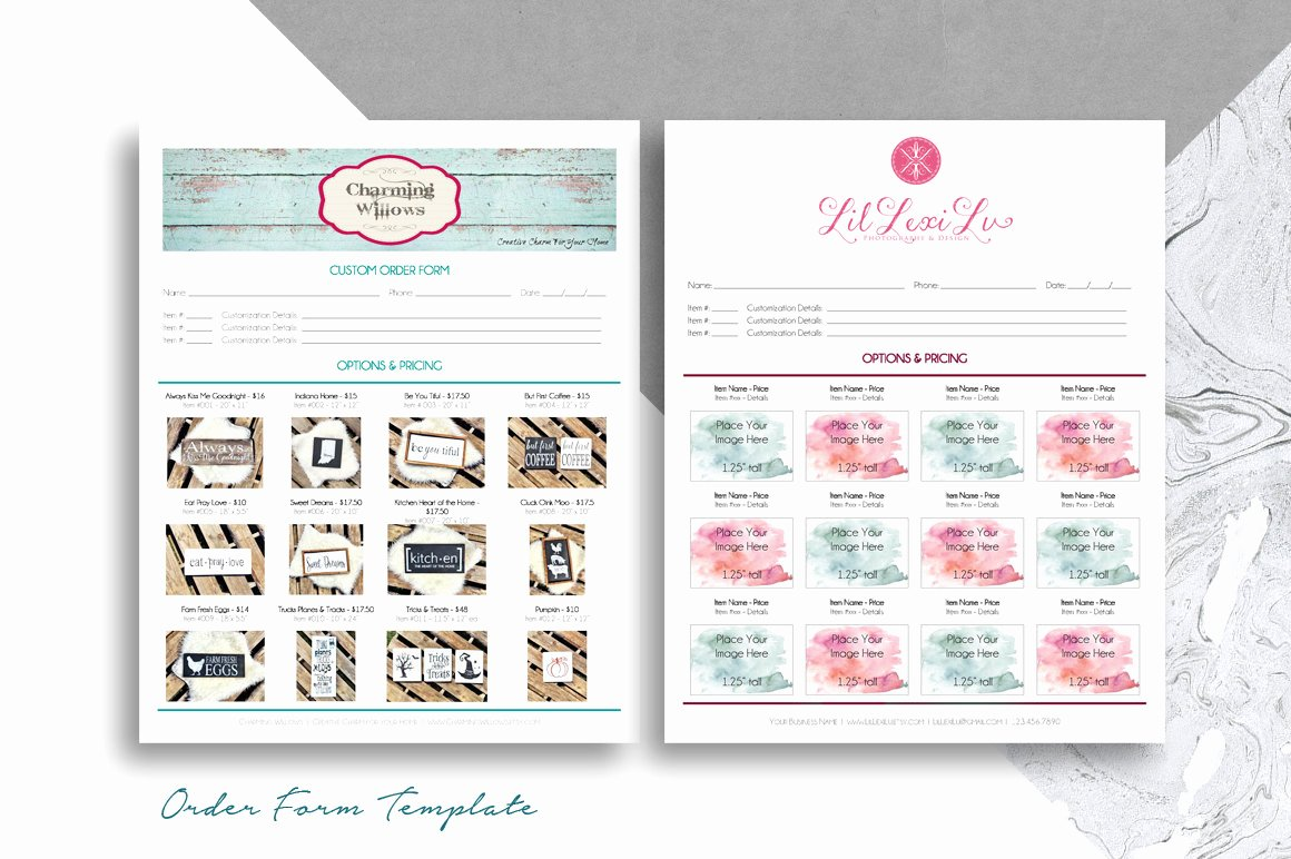 Printable order form Templates Inspirational order form Template for Boutiques & Craft Shows Printable 8 5