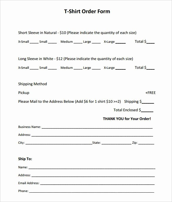 Printable order form Templates Lovely Free Printable order form Templates Image – order form