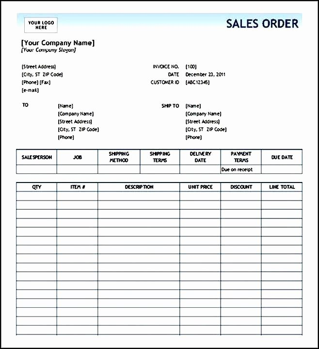 Printable order form Templates Luxury order form Template Free Sample order Templates