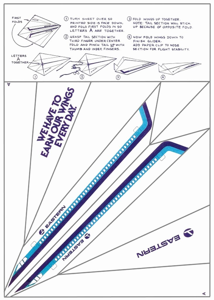 Printable Paper Airplane Template Awesome Paper Airplanes How to Fold and Create Paper Airplanes