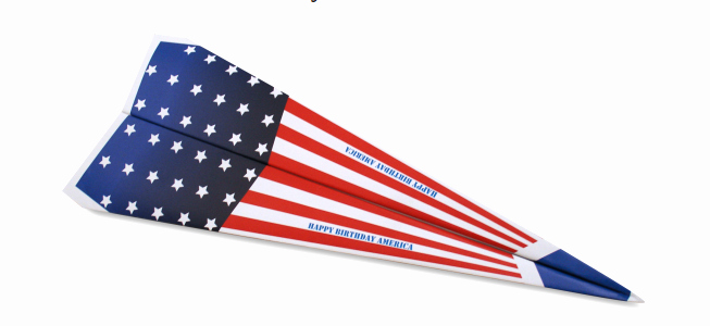 Printable Paper Airplane Template Beautiful Make A Patriotic Paper Airplane Free Printable Template