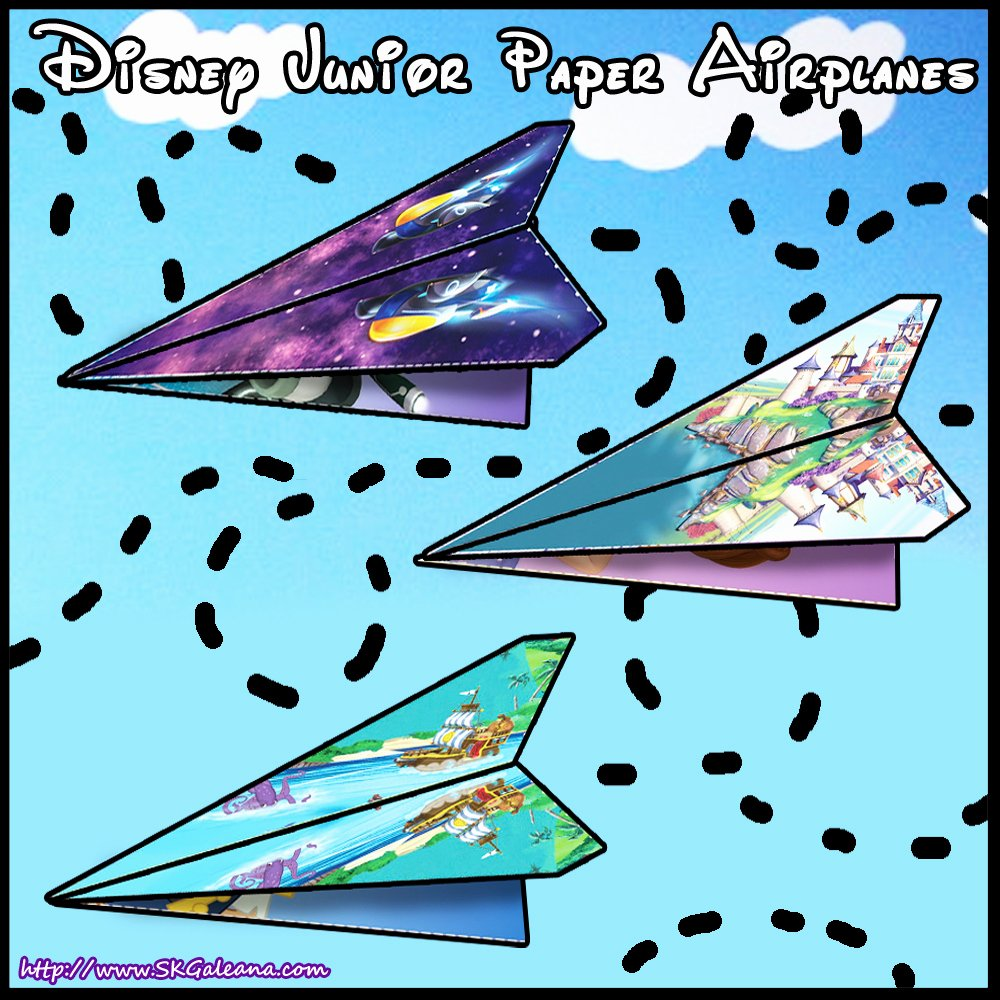 Printable Paper Airplane Template Best Of Disney Junior Printable Paper Airplane Templates
