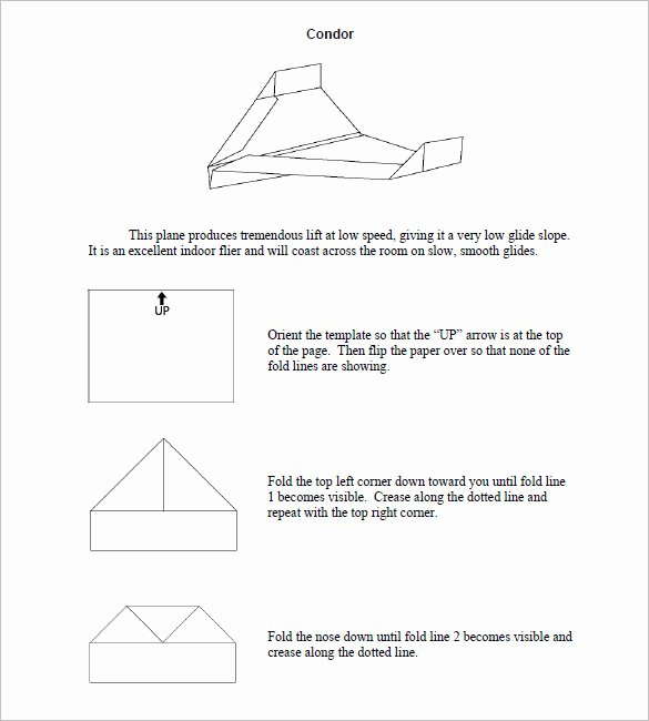 Printable Paper Airplane Template Fresh 14 Paper Airplane Templates Psd Pdf