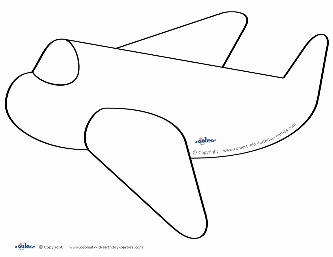 Printable Paper Airplane Template Inspirational Printable Airplane Decoration Coolest Free