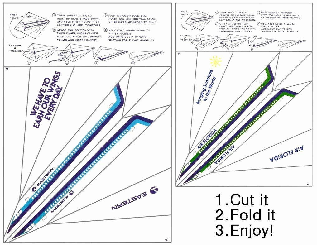 Printable Paper Airplane Template Lovely Paper Airplane Printable Template Sheets