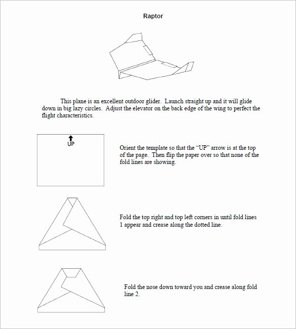 Printable Paper Airplane Template New 14 Paper Airplane Templates Psd Pdf