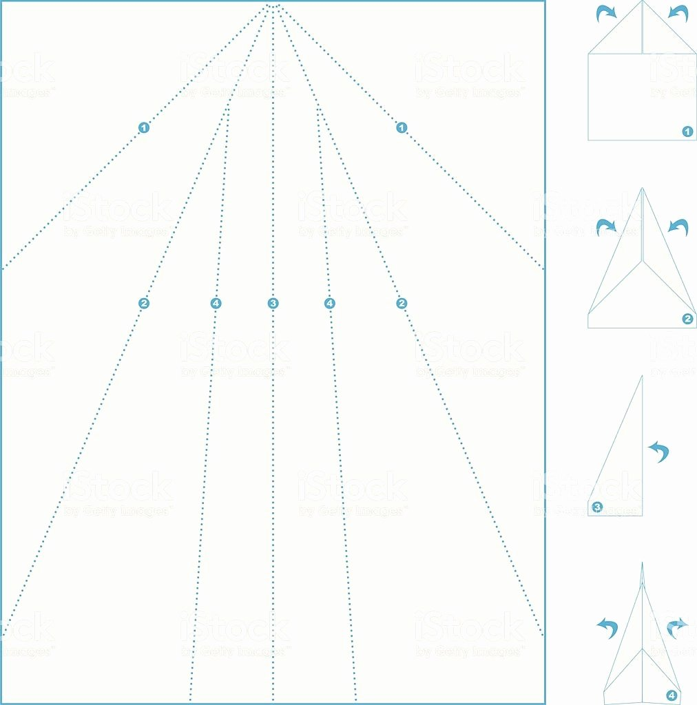 Printable Paper Airplane Template New Folding Template for A Paper Airplane