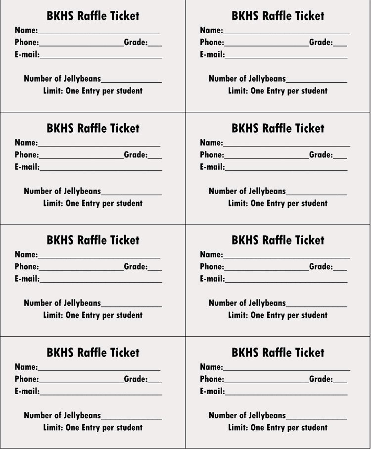 Printable Raffle Ticket Template Awesome 45 Raffle Ticket Templates
