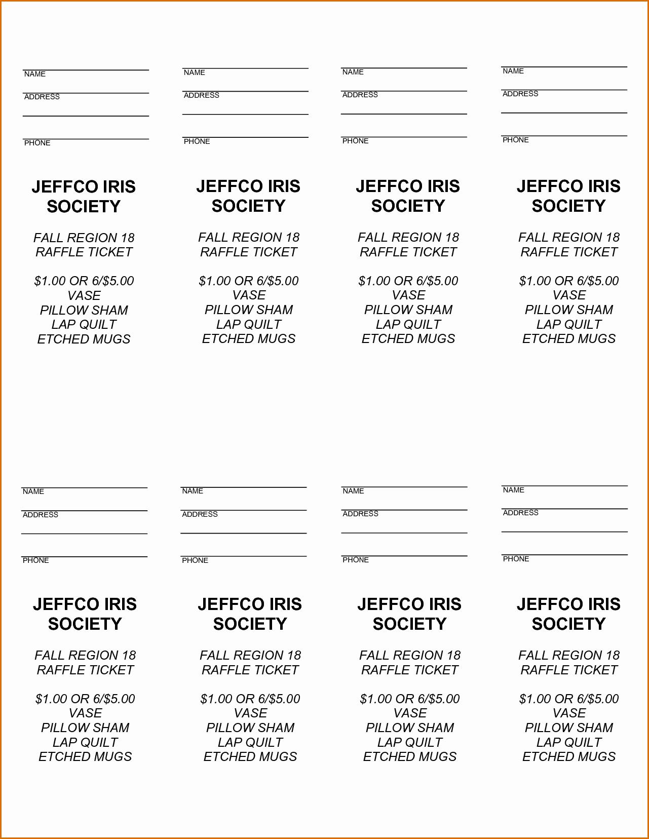 Printable Raffle Ticket Template Elegant Free Printable Raffle Tickets Free Printable Raffle