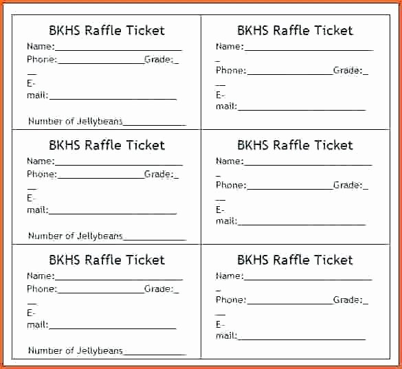 Printable Raffle Ticket Template Lovely Free Printable Raffle Ticket Template Download