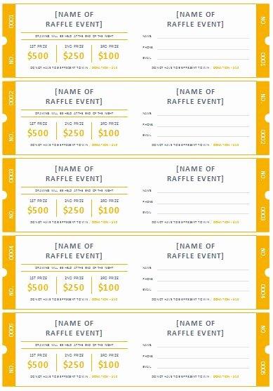 Printable Raffle Ticket Template Luxury Free Printable Raffle Ticket Templates