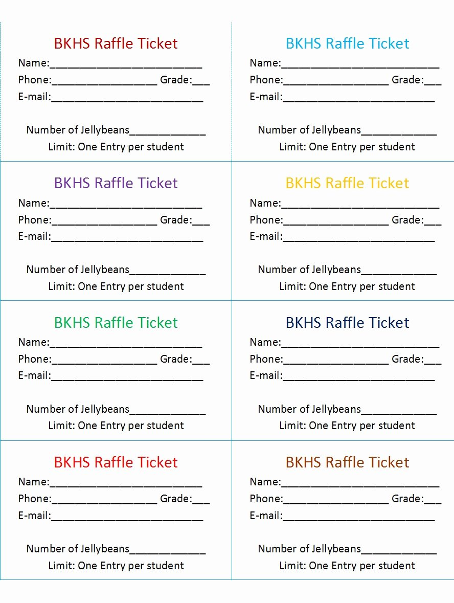 Printable Raffle Ticket Template New 50 Free Raffle & Movie Ticket Templates Templatehub